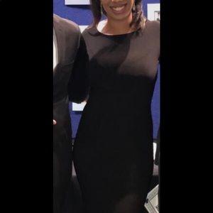 Floor length black gown